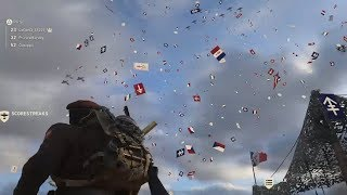 New Headquarters Easter Egg (Huge Plane+Raining Flags) - Call of Duty WWII