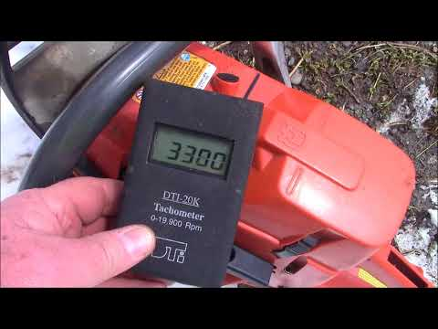 Air Temperature and the effect on tuning Chainsaw Carburetors - A demonstration