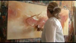 Repeat youtube video Abstract acrylic painting Demo - Abstrakte Malerei