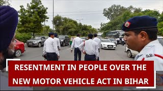 Resentment in People over the new Motor Vehicle Act in Bihar