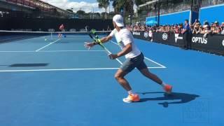 Rafael Nadal - Slow Motion Returns at 240fps [720p] Australian Open 2017