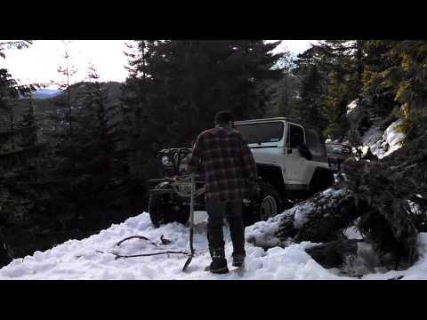 Snow Wheeling January 2013 in the Olympic Mountains