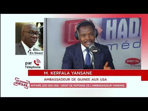 DROIT DE REPONSE KERFALA YANSANE DANS L'AFFAIRE DES 200 000 USD