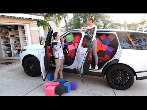 faze rug car. thumbnail: crazy foam pit in car scare prank! (girlfriend on brother) faze rug car