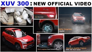 Mahindra XUV 300 Safety features revealed in a new video