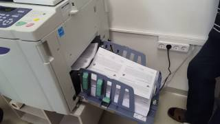 RISO SE9380 digital duplicator at full speed (180ppm)