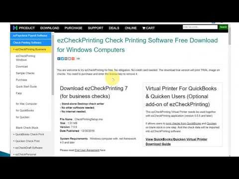 Free Check Writing and Printing Software Download-- ezCheckPrinting