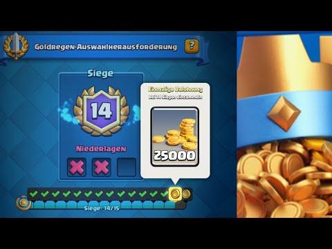 15 Siege GOLDREGEN CHALLENGE?   160.000 Gold zu gewinnen   Clash Royale deutsch