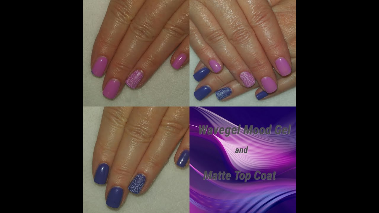 Nail Colors Youtube: Wavegel Matte Top Coat & Mood Gel Nail Polish