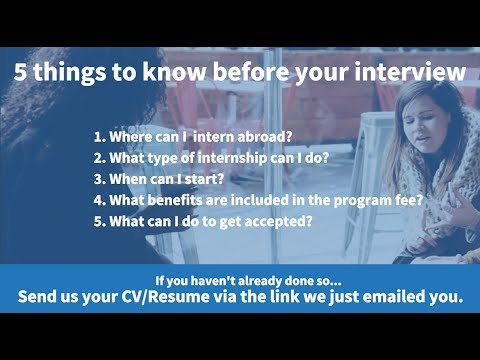 5 things to know before your interview