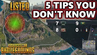 5 Tips You Don't Know | Listed | PlayerUnknown's Battlegrounds Gameplay | #PUBG Listedez