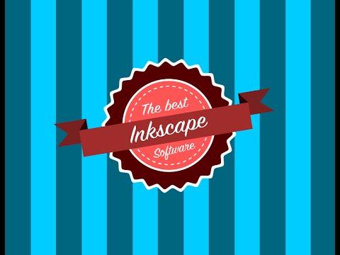 INKSCAPE 20 - Como hacer  un logotipo estilo vintage