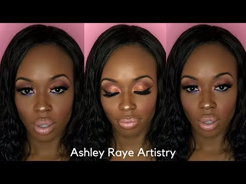 Ashley Raye Artistry: Copper Glam with Purple under Eye liner