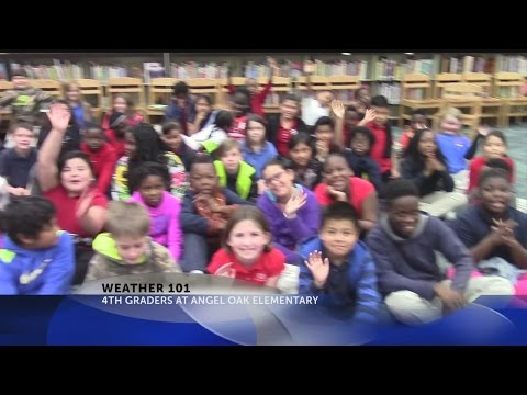 Rob Fowler visits the 4th graders at Angel Oak Elementary School