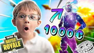 I MONTRE A KIKOO A GLITCH TO HAVE THE GALAXY SKIN A 1000 - FORTNITE TROLL