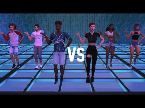 DANCE OFF  BOYS VS GIRLS WHO WON? SIMS 4