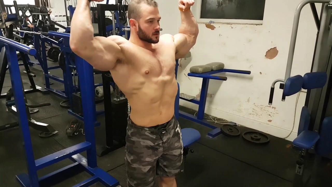 Big Muscle Studs — Zachary Krajniak doing a little post