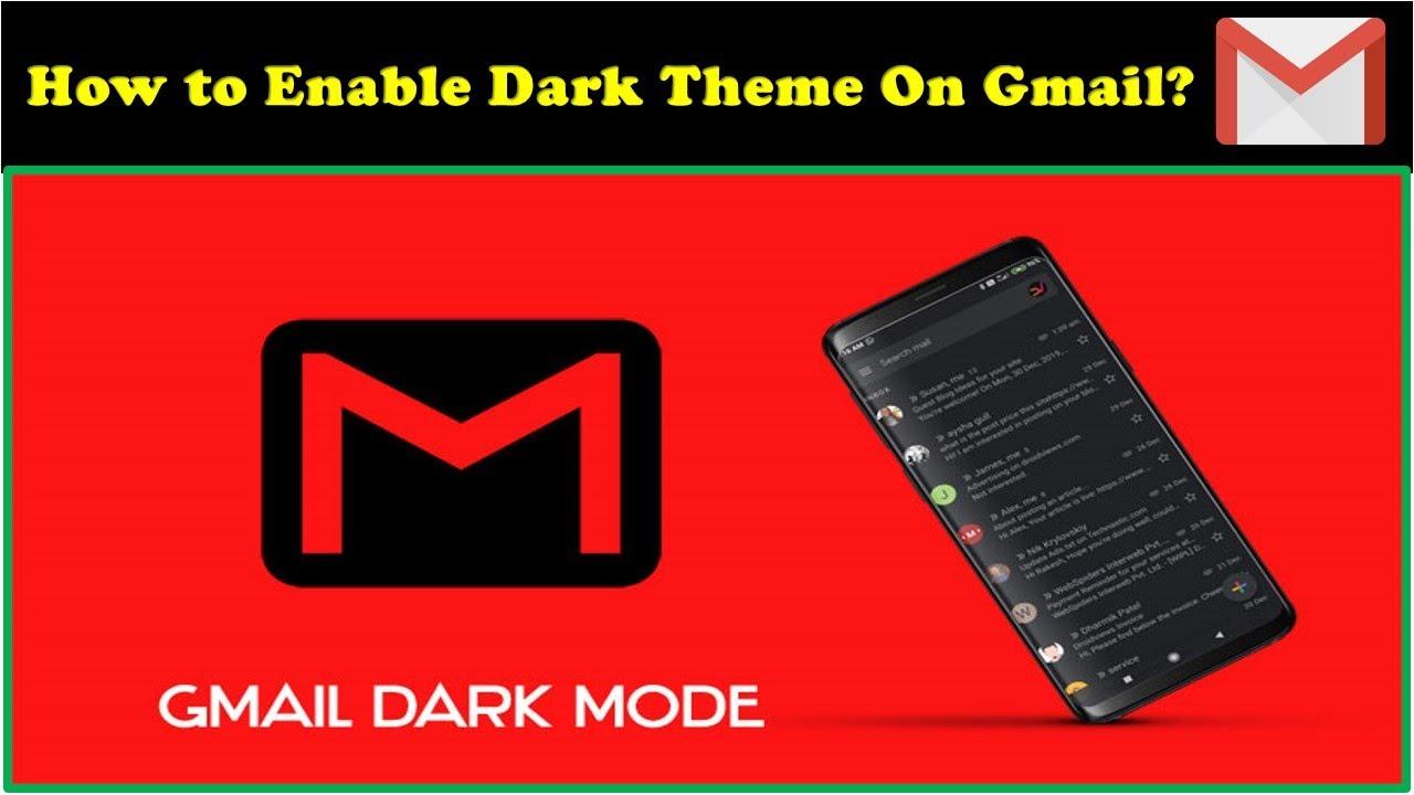 Gmail Dark Mode Youtube