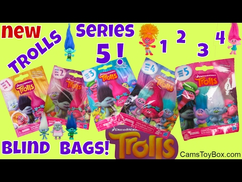 Dreamworks Trolls Series 5 Blind Bags 4 3 2 1 Opening Surprise Toys Character Names