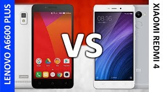 Lenovo A6600 Plus VS Xiaomi Redmi 4 Performance Comparison