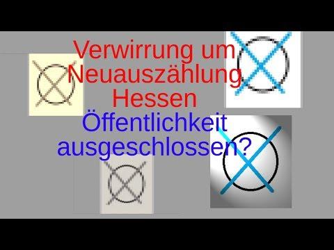 Verwirrung um Neuauszählung Hessen! Öffentlichkeit ausgeschlossen?