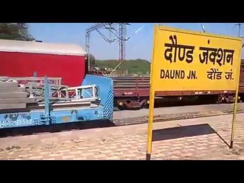 12780 Goa Express ( NZM-VSG) Entering Daund Junction