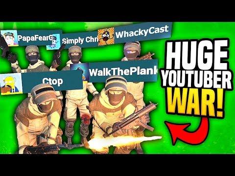 HUGE YOUTUBER WAR IN VIRTUAL REALITY - Pavlov VR (Funny Moments)