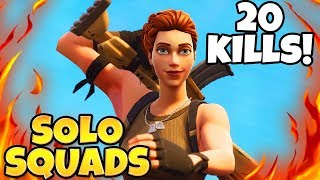 CLEARING TILTED TOWERS 20 KILL SOLO SQUADS GAMEPLAY in FORTNITE!