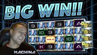 MASSIVE WIN!! Machina BIG WIN - Epic Win on Casino games from Casinodady LIVE STREAM