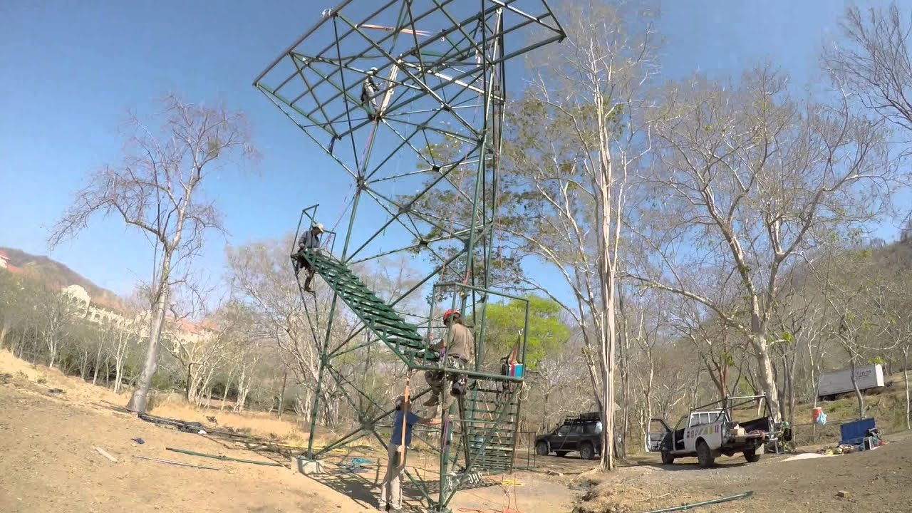 Zip line 10 m Tower build - YouTube