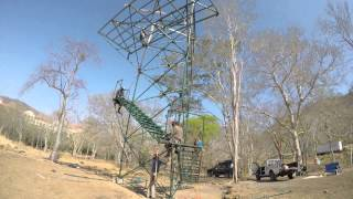 Zip line 10 m Tower build
