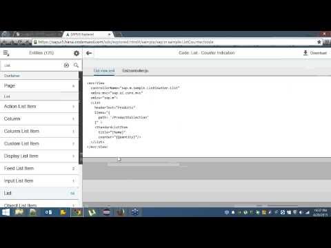 XML View, Table, XML Model, OData Model