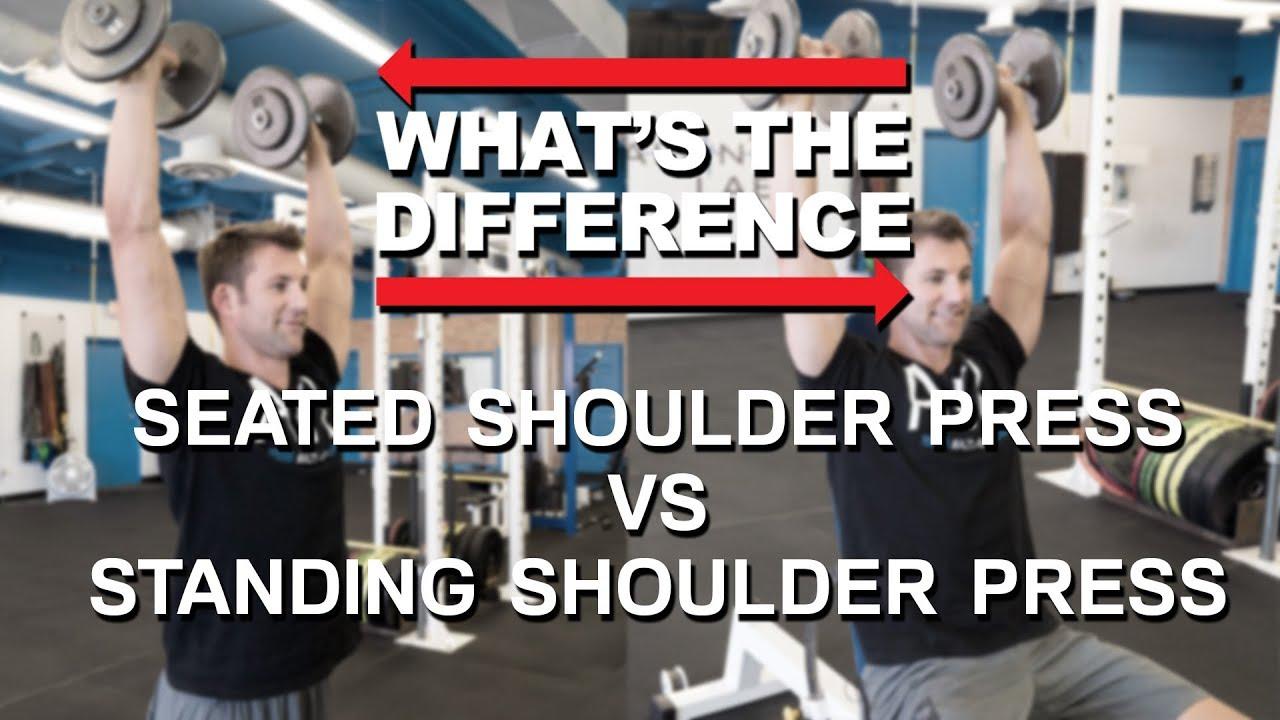 Standing Dumbbell Shoulder Press Vs