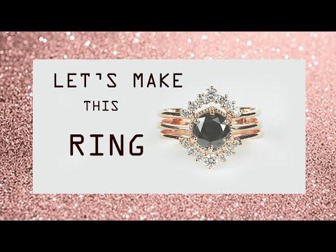 Making 1 Ct Diamond Engagement Ring In 18k Rose Gold