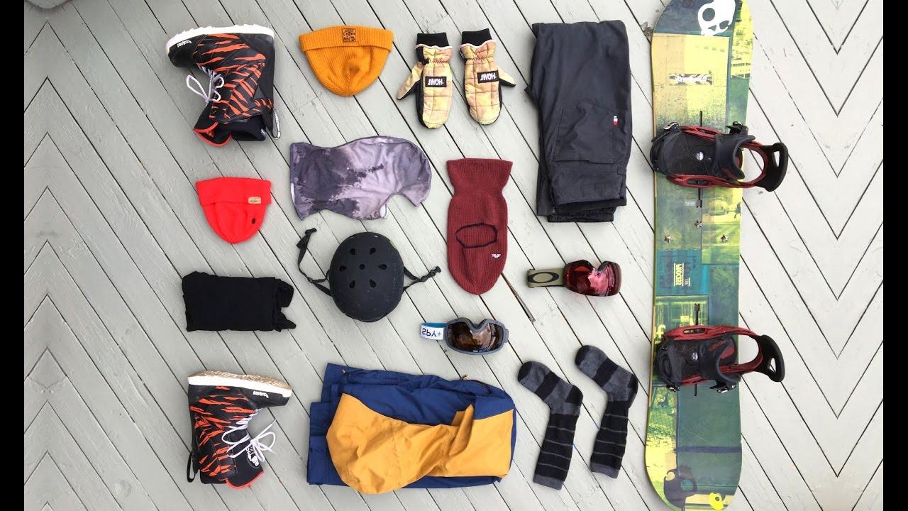 My 9 Snowboard Gear List