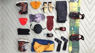 Ski Gear - My 2017 Snowboard Gear List