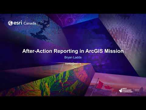After-Action Reporting in ArcGIS Mission