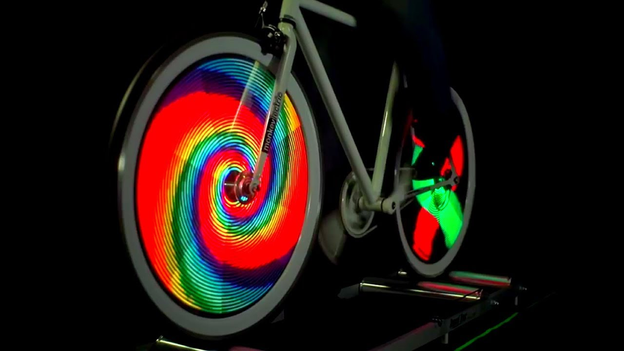 Fahrrad Speichen Led Licht Monkey Light Von Monkeylectric Youtube