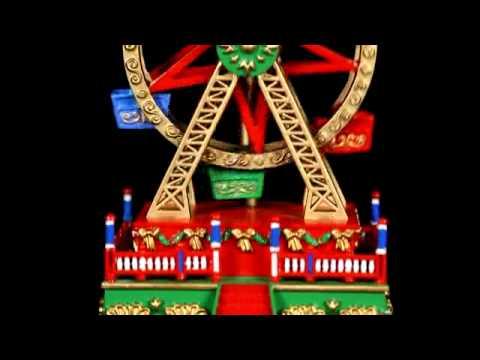 Christmas Ferris Wheel Music Box.19736 Mr Christmas Mini Carnival Music Box Ferris Wheel