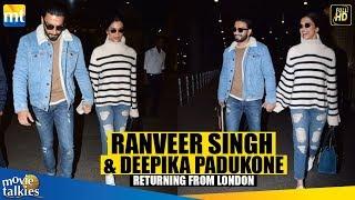 Ranveer Singh & Deepika Padukone Return Hand-in-Hand From London