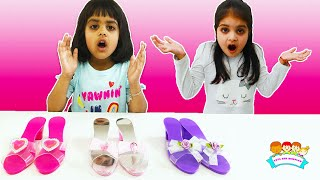 Ashu and Cutie Pretends Play with New Princess Slippers & Toys for Kids