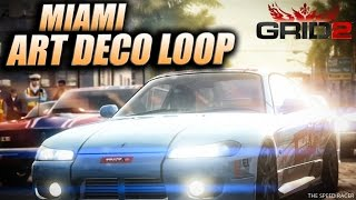 GRID 2 - Nissan Silvia Spec-R Aero (S15) - Miami Race - Art Deco Loop
