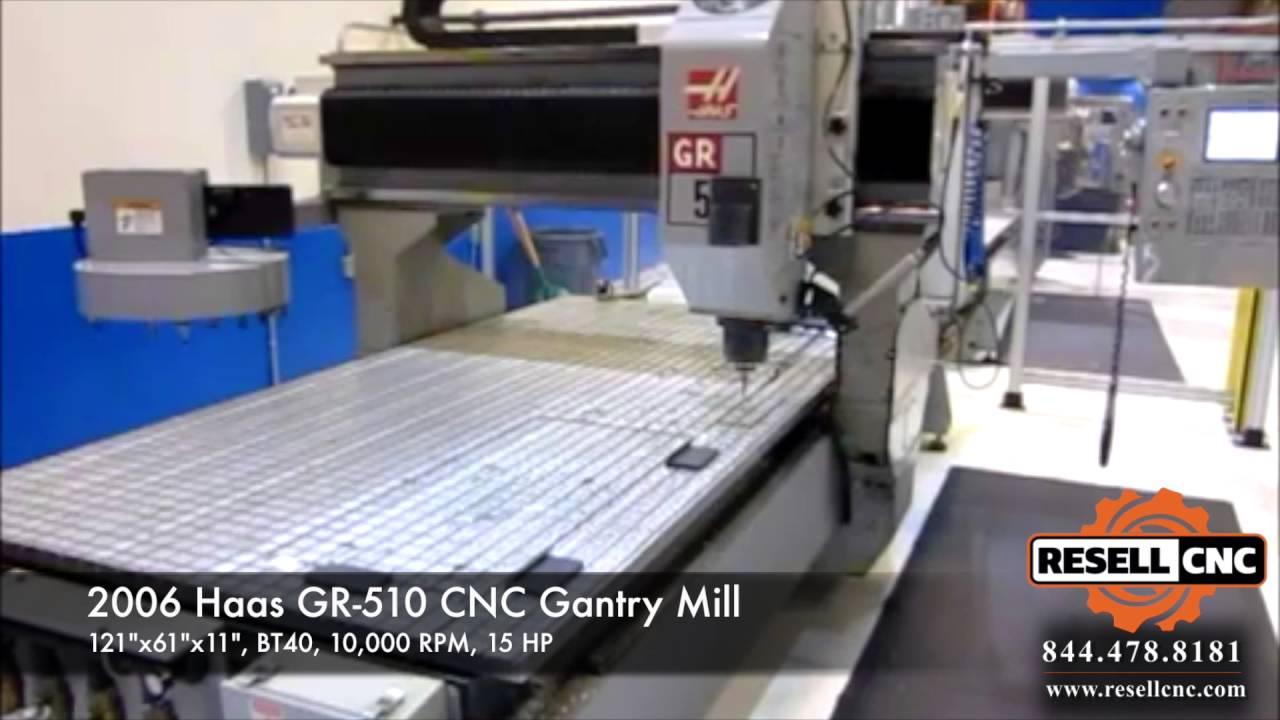 2006 Haas Gr 510 Cnc Gantry Mill 04984