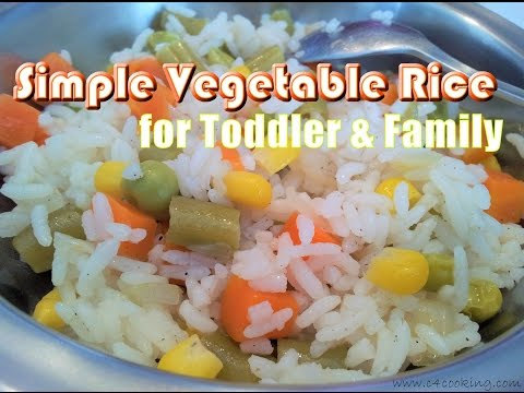 Simple VEGETABLE Rice ( for Toddler & Family ) | Vegetable Rice Recipe | 1 meal for all