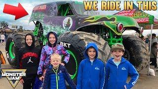 Kids Ride REAL Monster Truck at Monster Jam!!