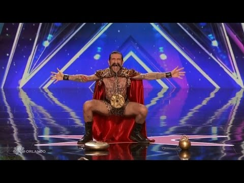 Americas Got Talent 2016 Mika Nieminen Carnival Act OUCH! Full Audition Clip S11E04