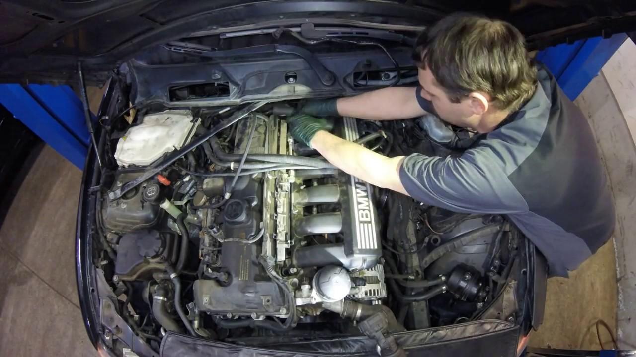 BMW 330xi Crank Sensor Replacement  It's buried deep! The TimeLapse Tech