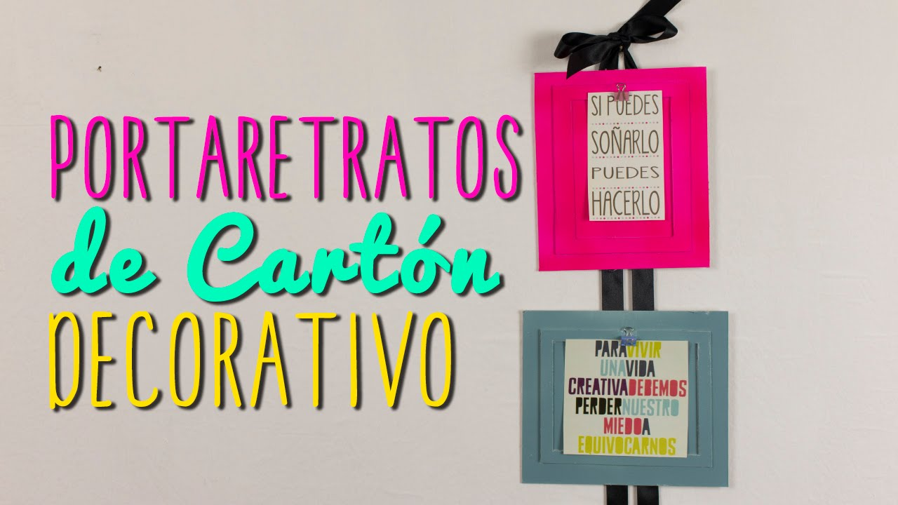 portaretratos creativos de cart n ideas para decorar tu cuarto diy catwalk youtube