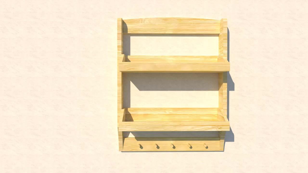 Rak kayu serbaguna Kecil - YouTube