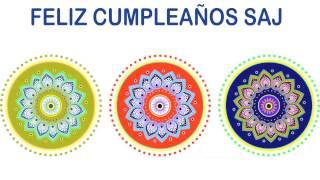 Saj   Indian Designs - Happy Birthday